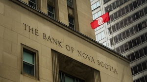 The Bank of Nova Scotia building is shown in the financial district in Toronto on Tuesday, August 22, 2017.THE CANADIAN PRESS/Nathan Denette