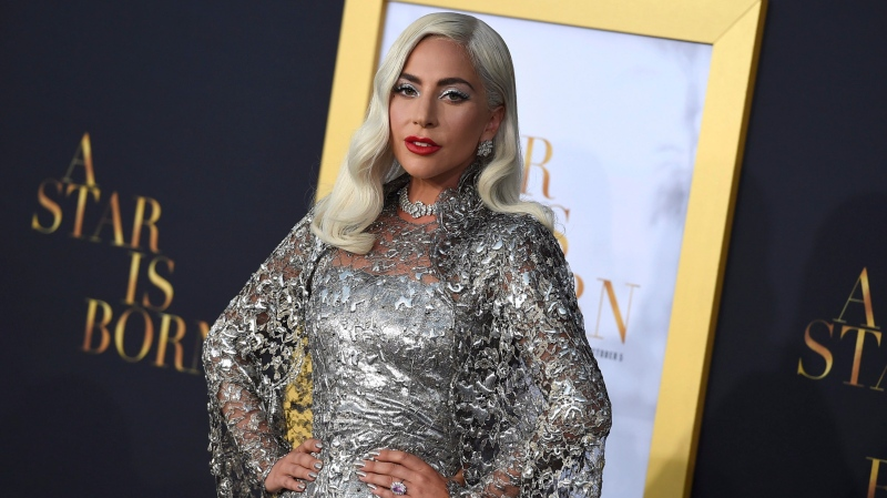 Lady Gaga is nominated for Record Of The Year, Song Of The Year, Best Pop Solo Performance, Best Pop Duo/Group Performance and Best Song Written For Visual Media. (Photo by Jordan Strauss/Invision/AP)