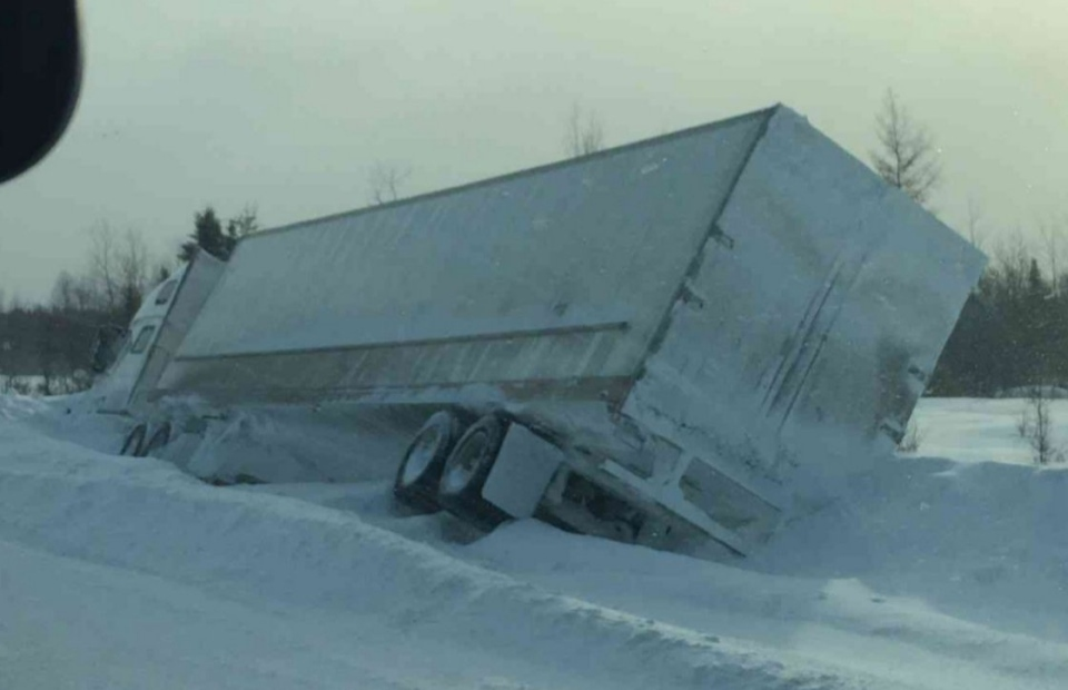 Transport off the road on Highway 11