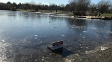 Warning signs on Vancouver ponds and lakes