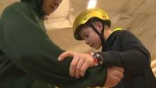 Visually impaired students get skateboarding lesso