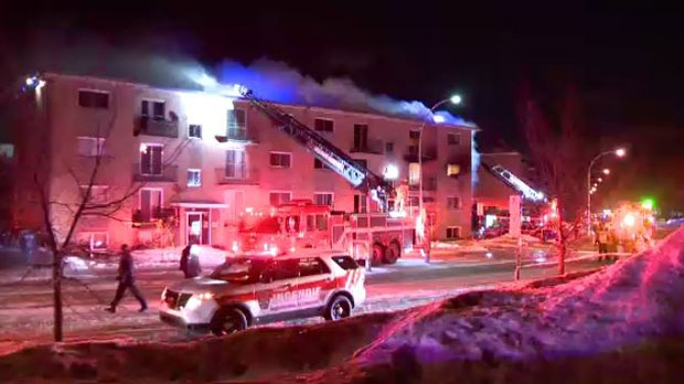 Three people have died after a Saturday morning apartment fire in Longueuil. 11 others are wounded with non life-threatening injuries.