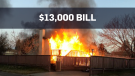 Fire department bills man $13K after house burns