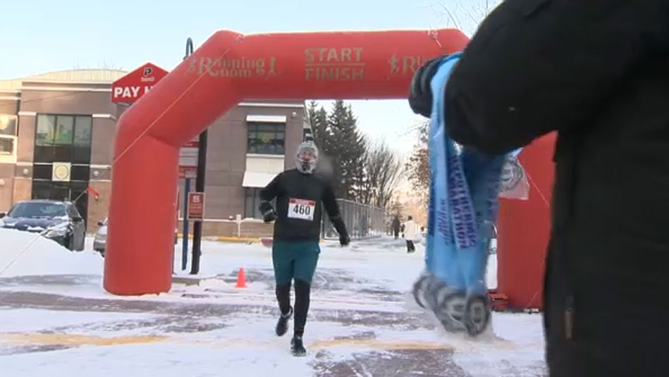 Runners in the Hypo Half Marathon said it was a difficult race on Saturday with the frigid temperatures, but the wind chill wasn't as bad as predicted.