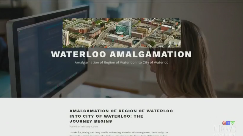 amalgamation website Waterloo Region