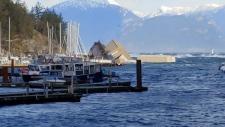 Sewell's Marina barge