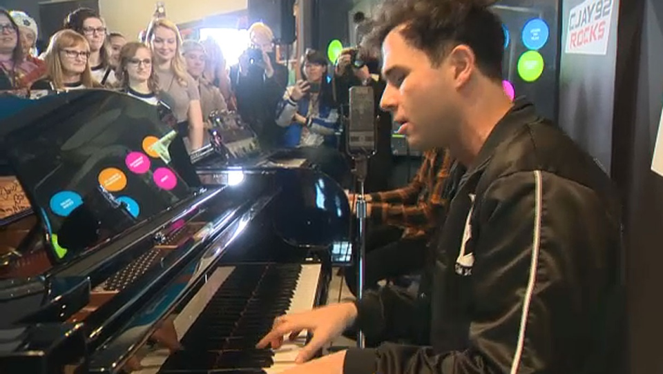 Two members of Arkells, Max Kerman and Anthony Carone, took part in the CJAY 92 Jam Session at The Radio Lounge at Studio Bell on Saturday afternoon.