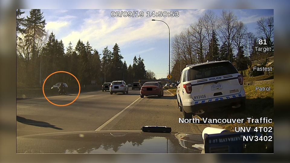 Police in North Vancouver are looking for witnesses to a hit-and-run incident involving a uniformed officer attempting to make a traffic stop. (CTV)