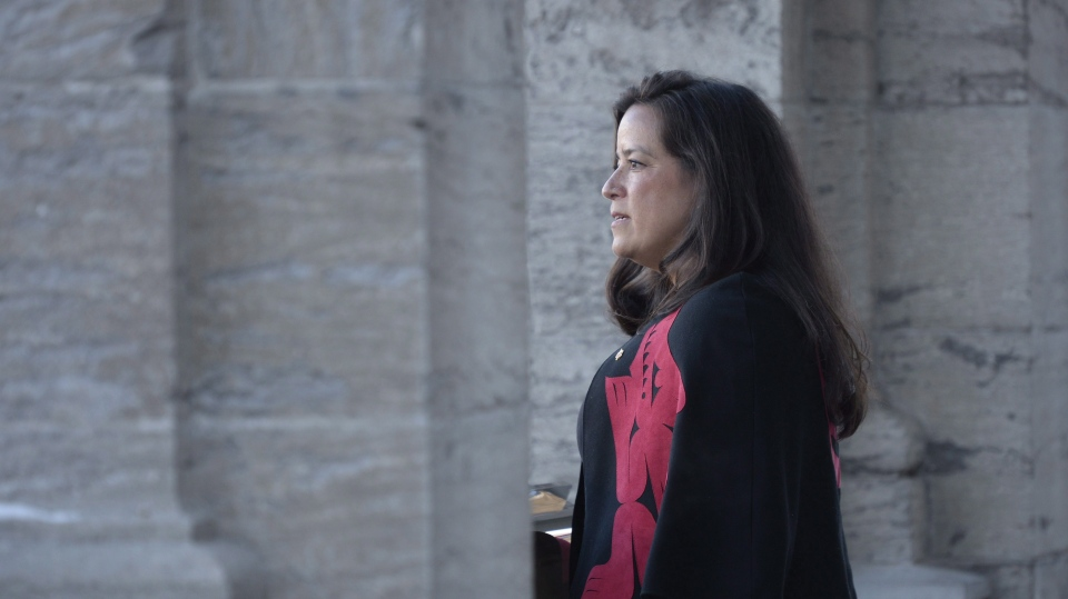 Jody Wilson-Raybould addresses the media following a swearing in ceremony at Rideau Hall in Ottawa on Monday, Jan. 14, 2019. (THE CANADIAN PRESS/Adrian Wyld)