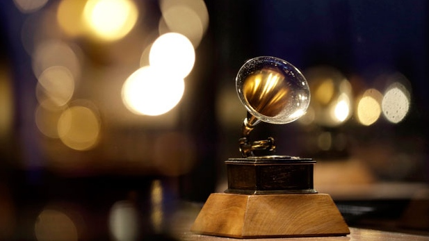 A Grammy award is displayed at the Grammy Museum Experience at Prudential Center, in Newark, N.J., Oct. 10, 2017. THE CANADIAN PRESS/AP-Julio Cortez