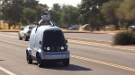Self-driving robot hitting the road to deliver