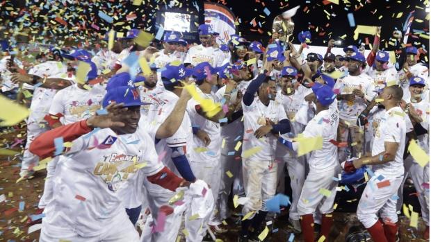 Panama's Los Toros de Herrera players celebrate