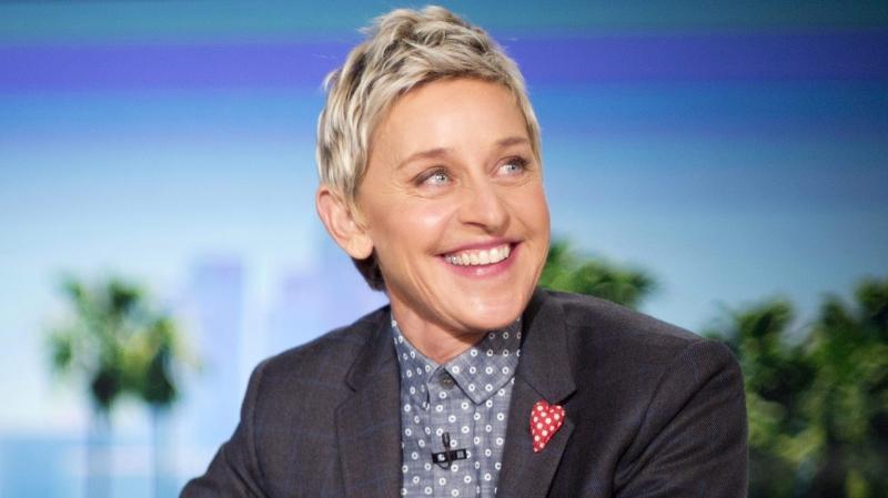 "In this Feb. 11, 2016 file photo, host Ellen DeGeneres appears during a taping of ""The Ellen DeGeneres Show,"" in Burbank, Calif. (AP Photo/Pablo Martinez Monsivais, File)"