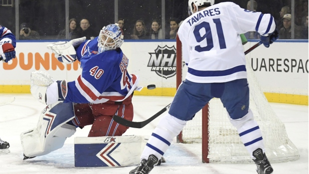 New York Rangers goaltender Alexandar Georgiev