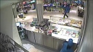 Security camera footage from a shooting in the Toronto Eaton Centre