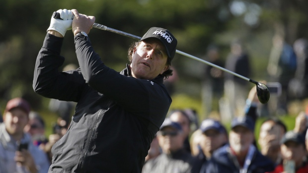 Phil Mickelson on the Pebble Beach Golf Links