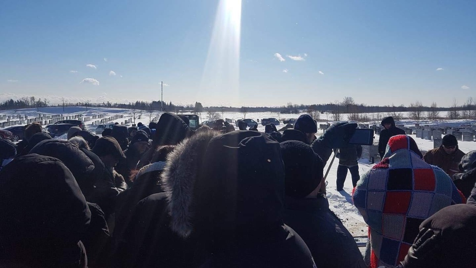 More than 100 people attended the funeral of Holocaust survivor Eddie Ford in Richmond Hill, Ont. on Jan. 31, 2019. (Courtesy: Rafy Yablonsky)