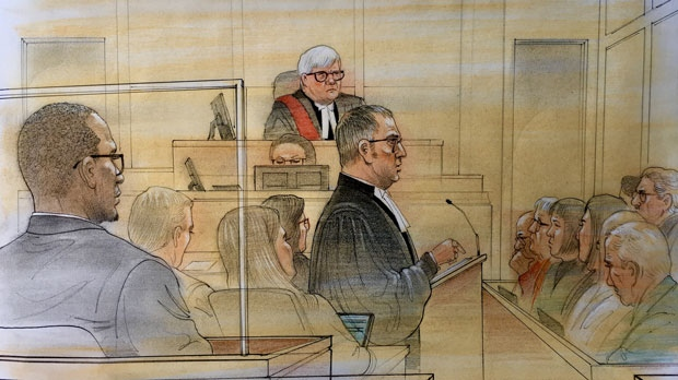 Crown makes closing remarks at the trial of Christopher Husbands on Feb. 11, 2019. (John Mantha)