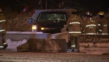 Snow plow crash Highway 1
