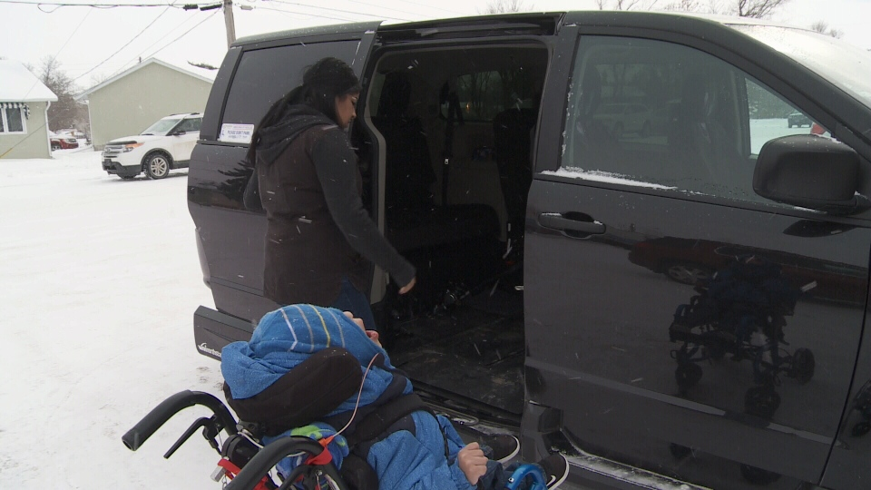 Shania McNabb now has a new van to help get her son, Chris Dieter, to his medical appointments.
