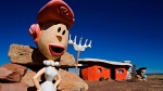 In this Nov. 11, 2008, file photo, provided by Richard Maack, a Wilma Flintstone figure is seen at the Flintstones Bedrock City theme park near Williams, Ariz. (Richard Maack via AP, File)
