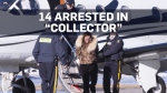 "14 suspects arrested in ""Collector"" raids"