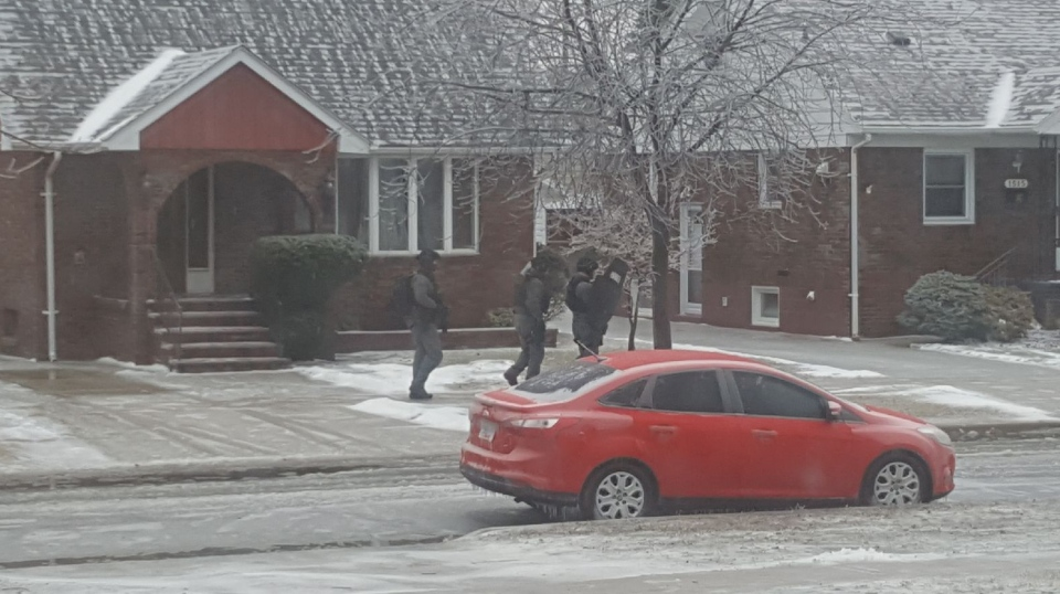 Windsor police have been called to Arthur and Seminole for a possible weapons call. (Courtesy Matt Scholey)