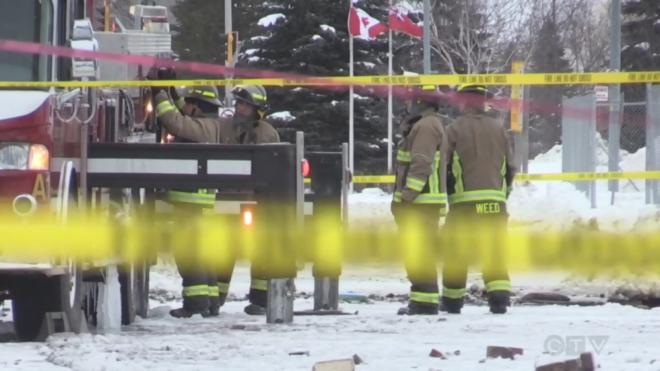 Firefighters on scene at Soo nightclub fire (Lincoln Louttit/CTV Northern Ontario)
