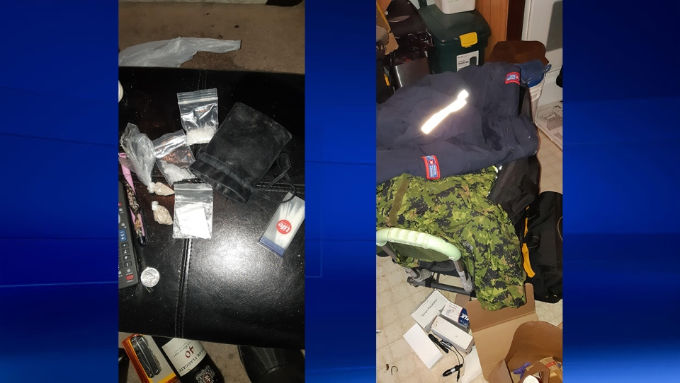 Some drugs and Canada Post, Canadian military and TELUS uniforms were also seized during the investigation.