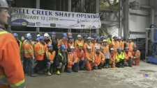 Tahoe Canada celebrates a shaft expansion at Bell