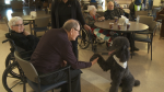 Therapy dogs help dementia patients
