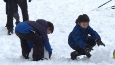 Vancouver kids enjoy snow day