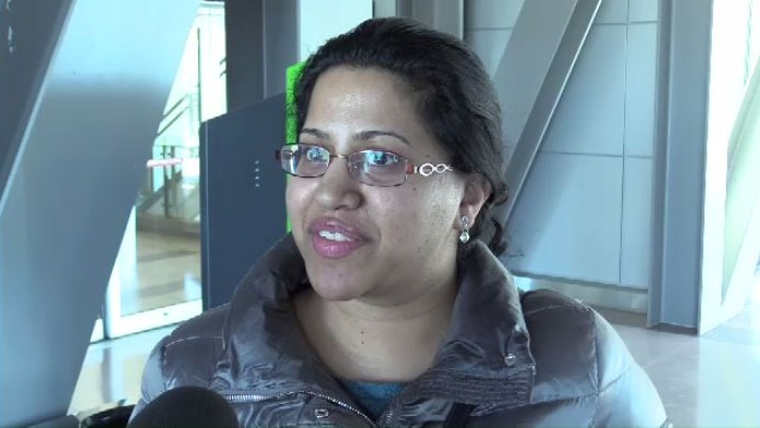 """I got out in time but the weather was getting progressively worse as we were taking off,"" said Reema Fuller, who arrived in Halifax from Toronto at noon on Tuesday."