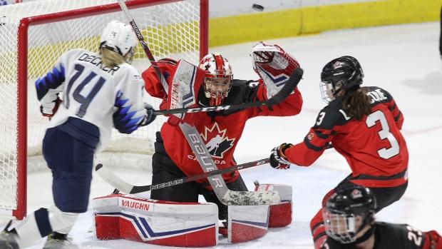 Canada goaltender Emerance Maschmeyer