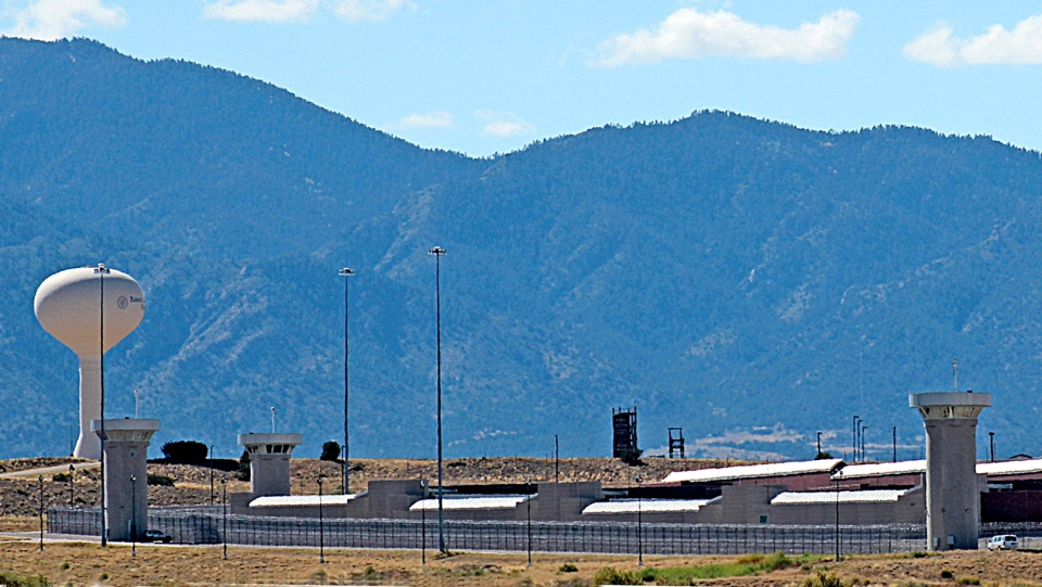 'Supermax' Administrative Maximum Security facility near Florence, Colo., seen on Oct. 7, 2014. (Tracy Harmon / The Pueblo Chieftain via AP)