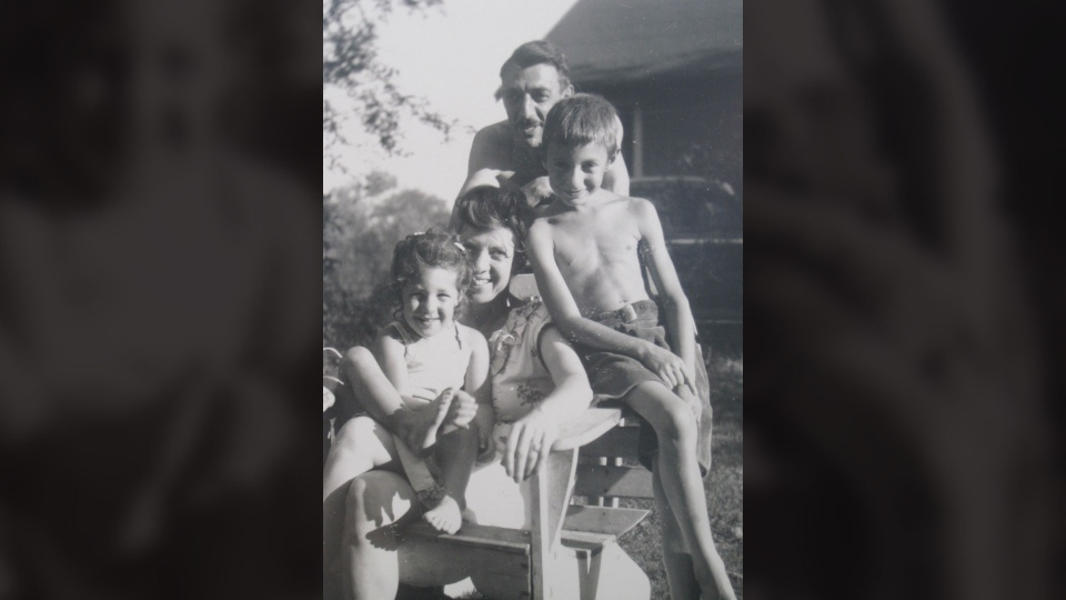 This is a provided photo of Mora Ann Gregg from 1946 when she was only three. Also pictured are her mother, father and older brother. (Mora Gregg)