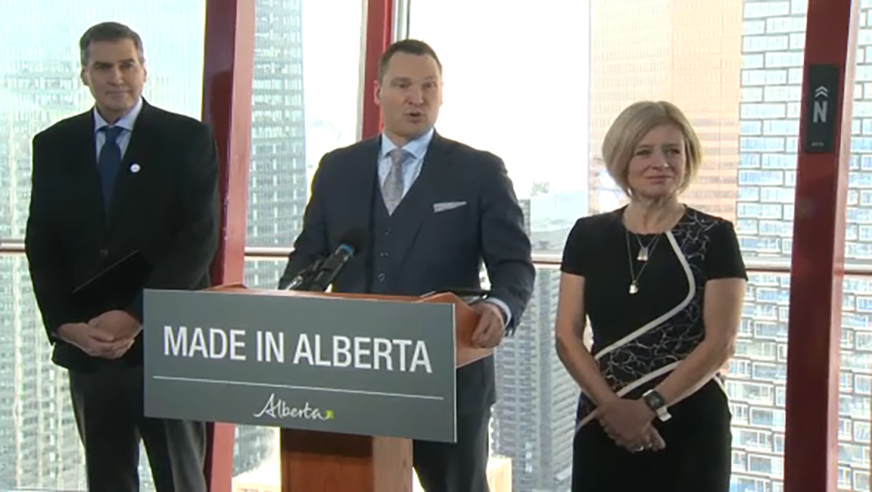 The Alberta government announced on Wednesday that it is investing $100 million over five years in high-tech industries.