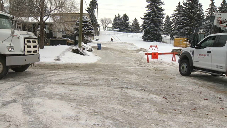 A water main break in the northwest community of Collingwood left a layer of ice on some streets and sidewalks in the area.