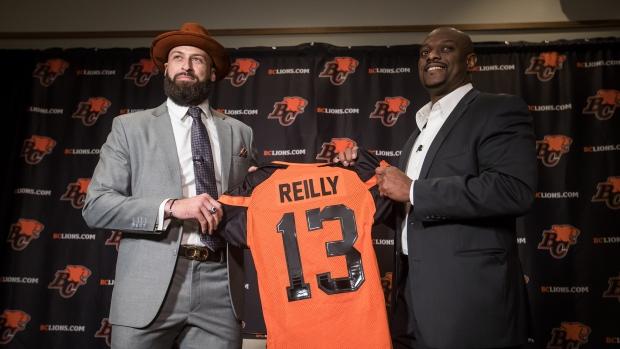 B.C. Lions quarterback Mike Reilly