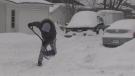 Residents in Orillia are digging out after a dumping of snow on Wed., Feb. 13, 2019 (CTV News/Rob Cooper)
