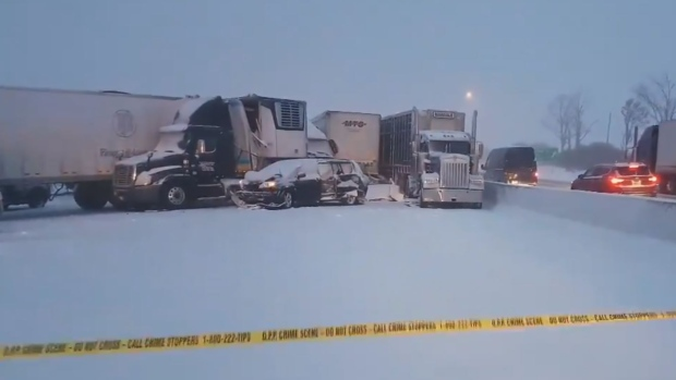 Fatal pile-up on 401 near Ingersoll just one of multiple weather