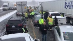 Massive pileup causes commuter chaos near Milton