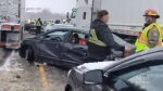 Pileup, crashes lead to delays on Hwy. 401