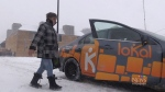 Discouraging weather makes business boom for cabs