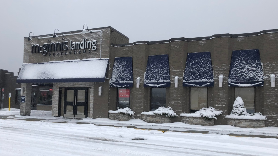 A new storefront cannabis shop is planned in the plaza at 666 Wonderland Road in London, Ont. seen on Wednesday, Feb. 13, 2019. (Adrienne South / CTV London)