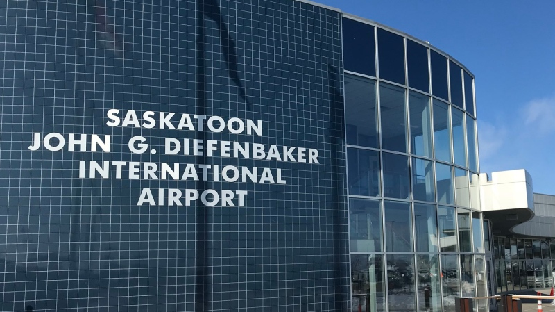 The Saskatoon airport is pictured in this file photo.