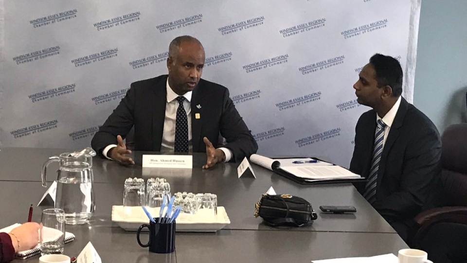 Ahmed Hussen Minister of immigration, refugees,