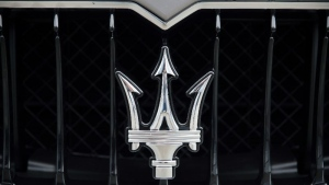 The Maserati trident logo is seen in this undated file photo. (AFP)