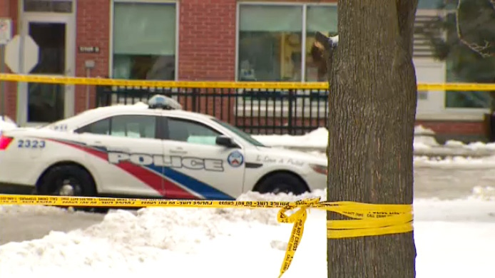 Toronto police investigating a fatal shooting in Rexdale on Feb. 14, 2019.
