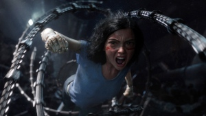 The character Alita, voiced by Rosa Salazar, in 'Alita: Battle Angel.' (Twentieth Century Fox via AP)